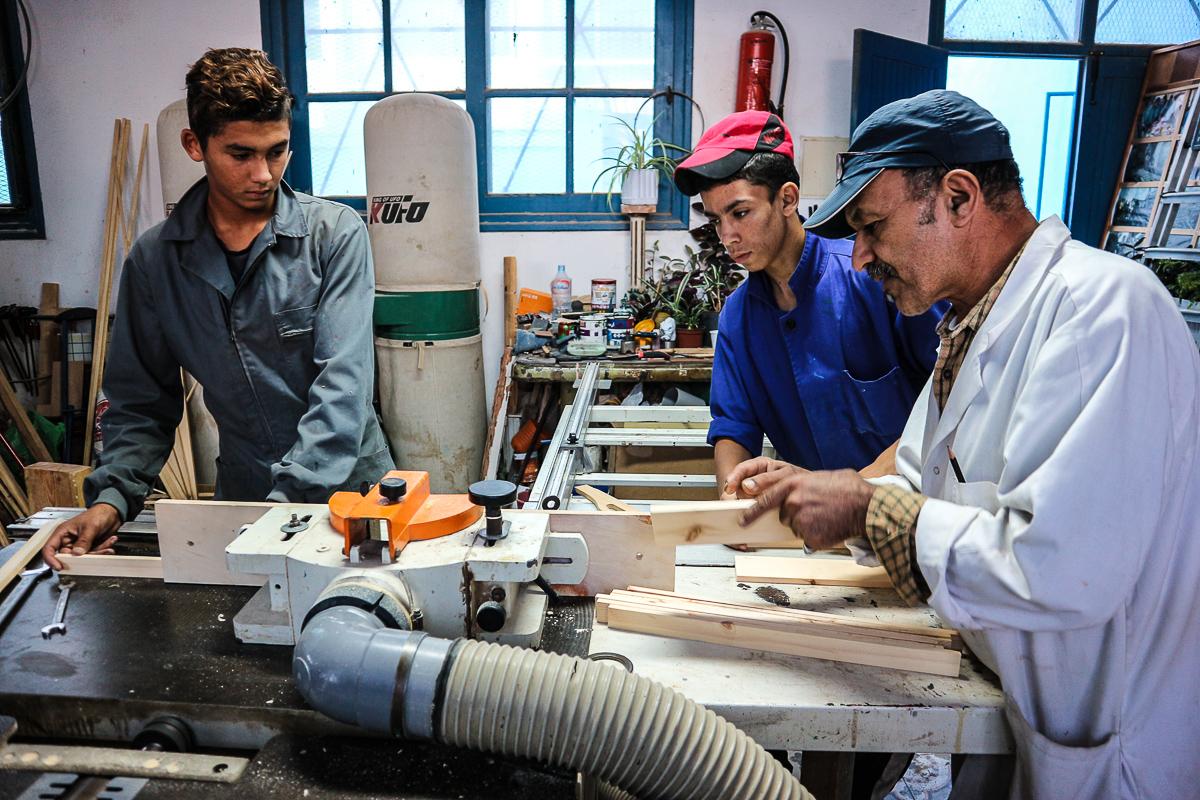 wood workshop darna tanger morocco
